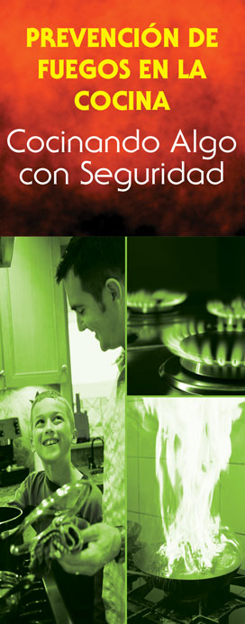 """Kitchen Fire Prevention: Cook Up Something Safe"" Pamphlet Preview (SPANISH Version)"