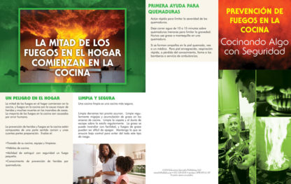 """""""Kitchen Fire Prevention: Cook Up Something Safe"""" Pamphlet (SPANISH Version) (Page 1)"""