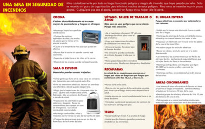 """""""Home Fire Prevention: Avoiding Disaster, Protecting Lives"""" Pamphlet (SPANISH Version) (Page 2)"""