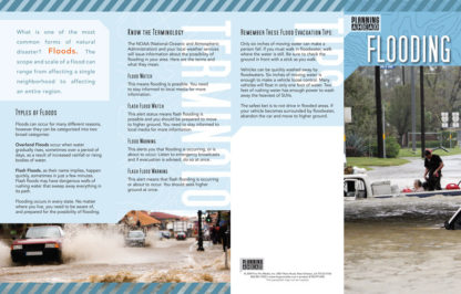 """""""Planning Ahead: Flooding"""" Pamphlet (page 1)"""