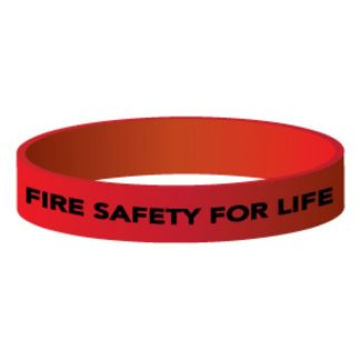 """Fire Safety for Life"" Silicone Wristband"