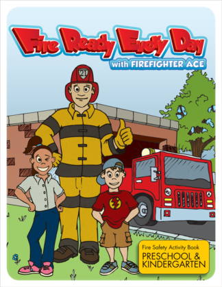 """Fire Ready Every Day with Firefighter Ace"" Activity Book - PreK-K-0"
