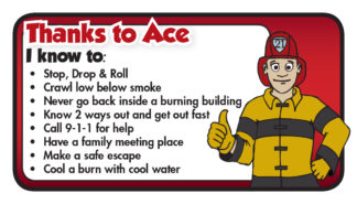 "Ace's ""Fire Ready Every Day"" Pledge Card"