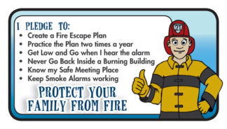 """Ace's Protect Your Family From Fire"" Pledge Card"