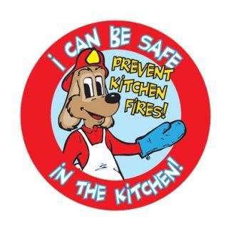 """Red's """"Prevent Kitchen Fires"""" Sticker"""