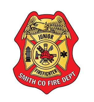 Custom Junior Firefighter Sticker Badge-0