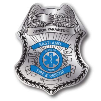 Custom Junior Paramedic Stick-on Foil Badge