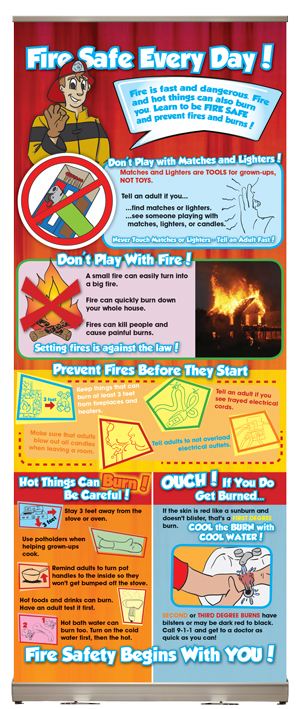 Fire Safe Every Day! Presentation Display