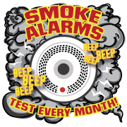 """""""Smoke Alarms: Test Every Month"""" Removable Tattoo"""