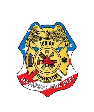 Custom Stars and Stripes Sticker Badge