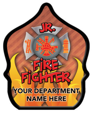 "Custom ""Jr. Firefighter Flame"" Fire Hat"