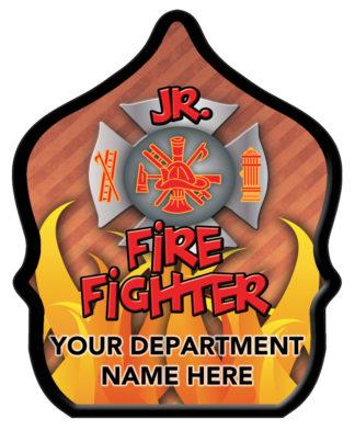 "Custom ""Jr. Firefighter Flame"" Fire Hat"