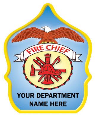 Custom Fire Chief Hat