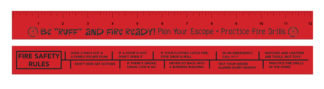 "Red's ""Be Ruff and Fire Ready"" Wooden Ruler"