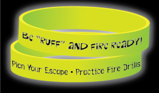 "Red's ""Be Ruff and Fire Ready"" Glow-in-the-Dark Wristband"
