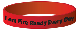 "Ace's ""I am Fire Ready Every Day"" Silicone Wristband"
