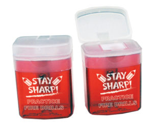 """Stay Sharp!"" Pencil Sharpener"