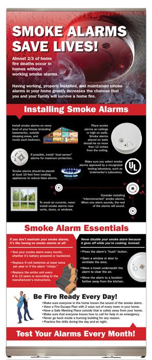 Smoke Alarms Save Lives! Presentation Display