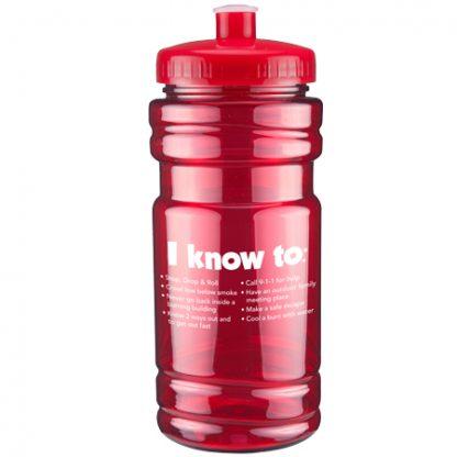 Firefighter Ace Sports Bottle (back)