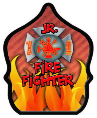 Jr. Firefighter Flame Fire Hat