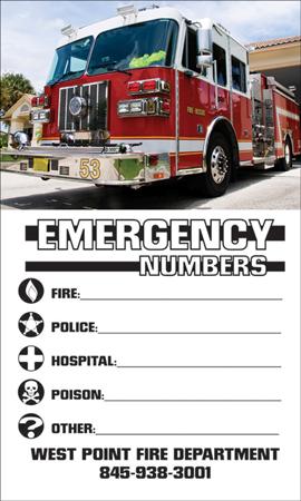 Custom Emergency Phone Number Magnet