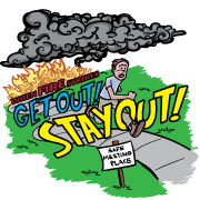 """Get Out! Stay Out! Removable Tattoo"