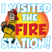 """I Visited the Fire Station"" Removable Tattoo"