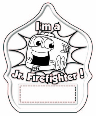 "Stock Color-Me ""Stretch Jr. Firefighter"" Fire Hat"