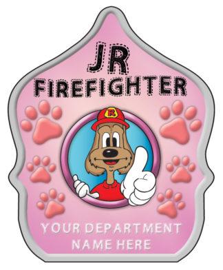 "Custom ""Jr. Firefighter Pink"" Fire Hat"