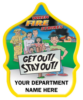 Get Out Stay Out Fire Hat