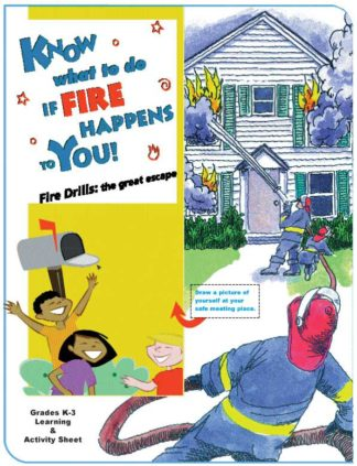 """""""Know What to Do if Fire Happens to You!"""" Activity Sheet"""