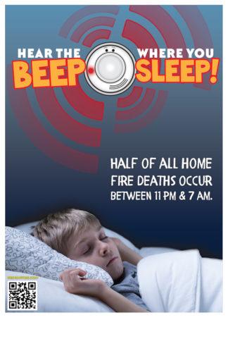 "Alert Bert's ""Hear the Beep Where You Sleep!"" Poster"