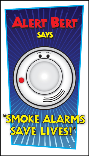 "Beeping Ben's ""Smoke Alarms Save Lives!"" Pledge Card"