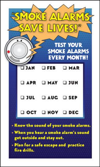 "Alert Bert's ""Smoke Alarms Save Lives!"" Test Your Smoke Alarms Magnet-0"