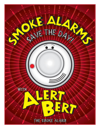 "Alert Bert's ""Smoke Alarms Save the Day"" Activity Book"