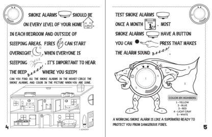 "Alert Bert's ""A Smoke Alarm Keeps You Safe From Harm"" Activity Book"
