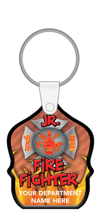 Custom Jr. Firefighter Shield Key Tag