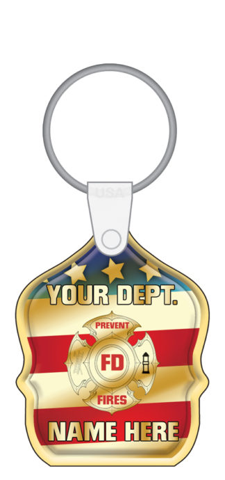 Custom Junior Fire Chief Shield Key Tag