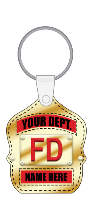 Custom Junior Firefighter Shield Key Tag