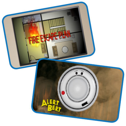 "Alert Bert's ""Smoke Alarms Save Lives!"" DVD (Screenshots of Video)"