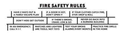 "Alert Bert's ""Smoke Alarms Save Lives!"" Laminated Ruler Bookmark (back)"