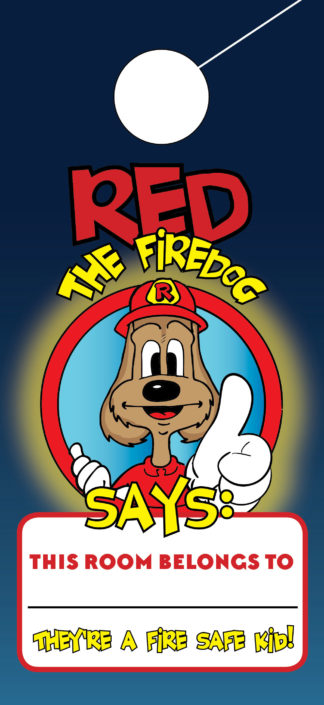 Red the Fire Dog Dog Hanger Front