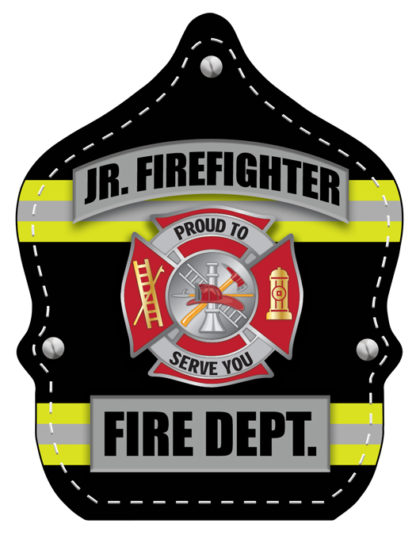 Stock Black and Yellow Uniform Fire Hat