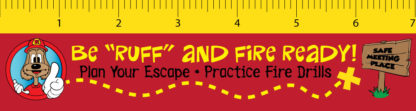 Red the Fire Dog - Be Ruff and Fire ready Laminated Bookmark Frong