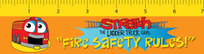 Stretch the Ladder Truck Says Fire Safety Rules! - Laminated Bookmark Front