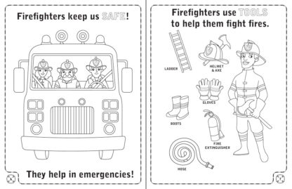 """""""A Visit to the Fire Station"""" Activity Book Spread"""