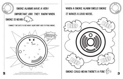 """Alert Bert's """"A Smoke Alarm Is Your Friend"""" Activity Book"""