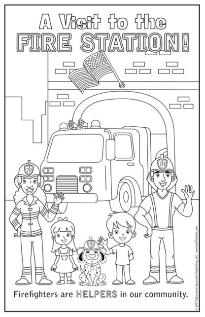 """""""A Visit to the Fire Station"""" Color Me Poster"""