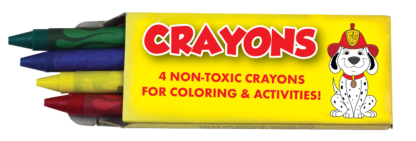 Fire Safety Crayon 4-Pack Front