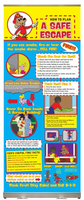 Red's Plan a Safe Escape Presentation Display